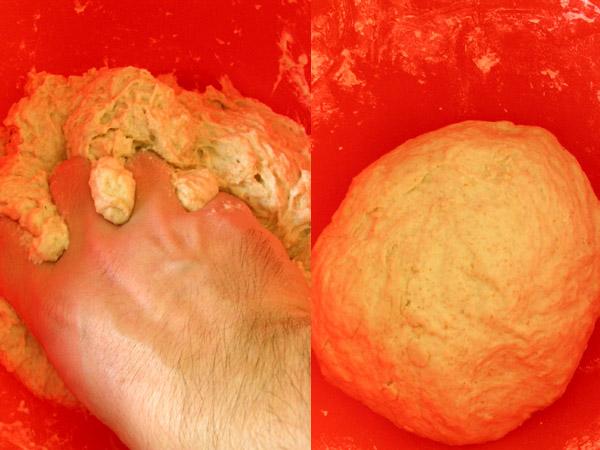 Mezclar los ingredientes a mano